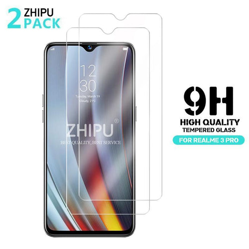 2 Pcs Tempered Glass For OPPO Realme 3 Pro Glass Screen Protector 2.5D Tempered Glass For Realme 3 Pro RMX1851 Protective Film Bahria Stores by Bahria Stores in Case & Screen Protectors