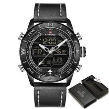 Load image into Gallery viewer, 2018 New Men Watches NAVIFORCE Top Luxury Brand Men's Fashion Sport Watch Male Leather Quartz Analog LED Clock Relogio Masculio Bahria Stores by Bahria Stores in Watches