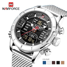 Load image into Gallery viewer, 2019 NAVIFORCE New Men Watches Military Sports Watch Men Fashion Casual Clock Waterproof Full Steel Quartz Watch montre homme Bahria Stores by Bahria Stores in [product_type]