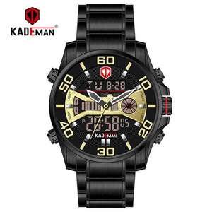2019 NEW Luxury Men Watches 30M Waterproof Sport Watch Luxury LED Display Wristwatch Automatic Date Full Steel Casual Male Clock Bahria Stores by Bahria Stores in [product_type]