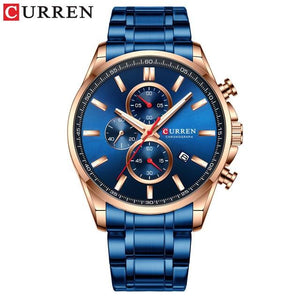 2019 New CURREN Top Brand Luxury Men's Watches Auto Date Clock Male Sports Steel Watch Men Quartz Wristwatch Relogio Masculino Bahria Stores by Bahria Stores in [product_type]