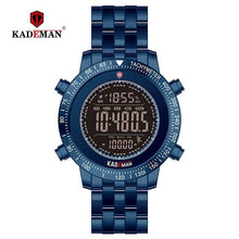 Load image into Gallery viewer, 2019 TOP Luxury Mens Watches Tech Sport Step Counter Digital Watch Brand Quality 3ATM Full Steel LED Military Wristwatch KADEMAN Bahria Stores by Bahria Stores in [product_type]