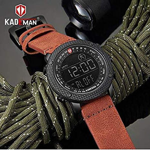 KADEMAN Business Casual Step Counter Waterproof Leather Strap Digital Wristwatch - K6121 Bahria Stores by AnzorStore in Wrist Watch