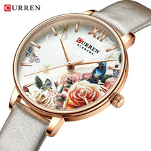 Load image into Gallery viewer, CURREN Charming Flower Design Watches Women Fashion Casual Leather Wristwatch Ladies Watch Female Clock Women's Quartz Watch Bahria Stores by Bahria Stores in [product_type]