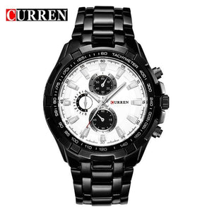 CURREN Fashion Business Men Watches Analog Sport Clock Full Steel Waterproof Wrist Watch For Men relogio masculino Male Clock Bahria Stores by Bahria Stores in [product_type]