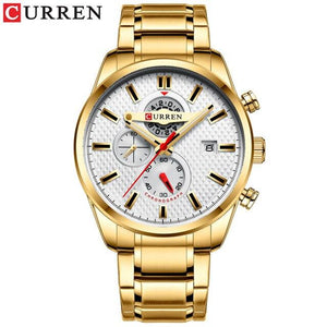 CURREN Fashion Causal Sports Watches Mens Luxury Quartz Watch Stainless Steel Chronograph and Date Luminous hands Wristwatch Bahria Stores by Bahria Stores in [product_type]