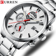 Load image into Gallery viewer, CURREN Fashion Causal Sports Watches Mens Luxury Quartz Watch Stainless Steel Chronograph and Date Luminous hands Wristwatch Bahria Stores by Bahria Stores in [product_type]