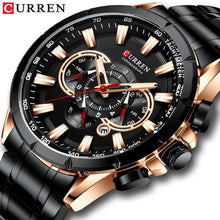 Load image into Gallery viewer, CURREN Men's Watch Fashion Sport Chronograph Wristwatch Mens Watches Top Brand Luxury Quartz Watch Stainless Steel Band Bahria Stores by Bahria Stores in [product_type]