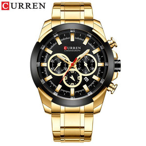 CURREN Top Brand Luxury Men's Watches Sports Watch Casual Quartz Wristwatch with Stainless Steel Chronograph Clock Reloj Hombres Bahria Stores by Bahria Stores in [product_type]