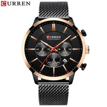 Load image into Gallery viewer, CURREN Watch Men Fashion Business Watches Men's Casual Waterproof Quartz Wristwatch Blue Steel Clock Relogio Masculino Bahria Stores by Bahria Stores in [product_type]