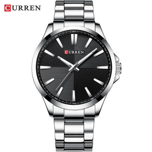 CURREN Watches Men Fashion Watch 2019 Luxury Stainless Steel Band Reloj Wristwatch Business Clock Waterproof  Relogio Masculino Bahria Stores by Bahria Stores in [product_type]