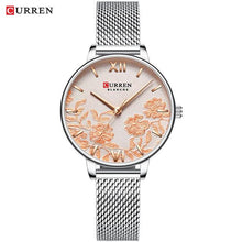 Load image into Gallery viewer, CURREN Women Watches Top Brand Luxury Stainless Steel Strap Wristwatch for Women Rose Clock Stylish Quartz Ladies Watch Bahria Stores by Bahria Stores in [product_type]