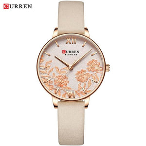 CURREN Women Watches Top Brand Luxury Stainless Steel Strap Wristwatch for Women Rose Clock Stylish Quartz Ladies Watch Bahria Stores by Bahria Stores in [product_type]