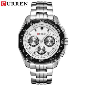 Fashion Curren Luxury Brand Man quartz full stainless steel Watch Casual Military Sport Men Dress Wristwatch Gentleman 2018 New Bahria Stores by Bahria Stores in [product_type]