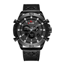 Load image into Gallery viewer, Fashion Luxury BELLEDA Brand Mens Sports Analog Black  Leather Band Quartz WristWatches Rose Gold Watch Men Watches Casual Bahria Stores by Bahria Stores in [product_type]