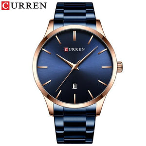 Gold Men's Watch Top Luxury Brand CURREN Simple Quartz Wristwatches for Men Clock Auto Date Watch with Stainless Steel Relojes Bahria Stores by Bahria Stores in [product_type]