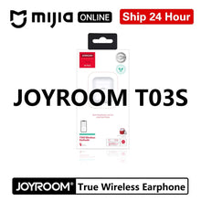 Load image into Gallery viewer, Joyroom T03S tws Binaural Wireless bluetooths 5.0 earphone In-Ear True wireless White Airbuds Gaming Gamer Earbuds