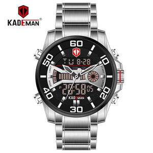 K6171 Luxury Men Watches 2019 Tech LED Sport Man watch Full Steel 3ATM Digital Wristwatch Original Brand KADEMAN Casual Business Bahria Stores by Bahria Stores in [product_type]