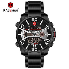 Load image into Gallery viewer, K6171 Luxury Men Watches 2019 Tech LED Sport Man watch Full Steel 3ATM Digital Wristwatch Original Brand KADEMAN Casual Business Bahria Stores by Bahria Stores in [product_type]