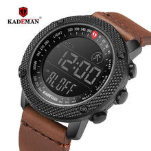 Load image into Gallery viewer, KADEMAN 2019 Luxury Sport Mens Watches Steps Counter LED Digital Watch 3ATM Fashion Designer Casual Leather Wristwatches Relogio Bahria Stores by Bahria Stores in [product_type]