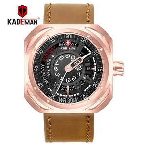 KADEMAN Creative Military Sport Men Watch Luxury 2019 Top Brand Waterproof Calendar Leather Male Clock Quartz Wristwatch Relogio Bahria Stores by Bahria Stores in [product_type]