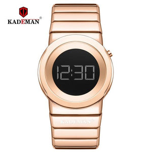 KADEMAN Ladies Watches Luxury Full Steel Women Wristwatches Waterproof LED Digital Watch 2019 New Fashion Bracelet Casual Clocks Bahria Stores by Bahria Stores in [product_type]