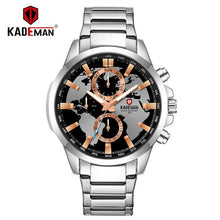 Load image into Gallery viewer, KADEMAN Luxury World Map Men Watch 2019 Top Brand Waterproof Full Steel Business Casual Wristwatches Automatic Relogio Masculino Bahria Stores by Bahria Stores in [product_type]