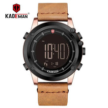 Load image into Gallery viewer, KADEMAN Men Watch Digital Display Waterproof Step Counter Leather Clock Top Luxury Brand LED Male Wristwatches Relogio Masculino Bahria Stores by Bahria Stores in [product_type]