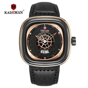 KADEMAN NEW Square Watch Men Luxury Sport Watches 2019 Starry Design Fashion Wristwatches 3TAM Business Casual Relogio Masculino Bahria Stores by Bahria Stores in [product_type]