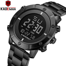 Load image into Gallery viewer, KADEMAN New Arrival Digital Sport Watch Men Luxury Full Steel 3ATM Brand Watch TOP Quality Military Wristwatch Relogio Masculino Bahria Stores by Bahria Stores in [product_type]