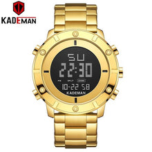 Load image into Gallery viewer, KADEMAN Sports Men Watch New Arrival LED Full Steel Digital Wristwatch Waterproof TOP Luxury Brand Watch Casual Military Relogio Bahria Stores by Bahria Stores in [product_type]