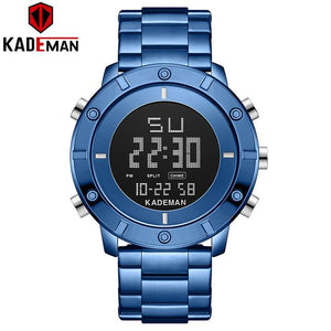 KADEMAN Sports Men Watch New Arrival LED Full Steel Digital Wristwatch Waterproof TOP Luxury Brand Watch Casual Military Relogio Bahria Stores by Bahria Stores in [product_type]