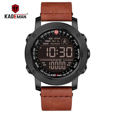 Load image into Gallery viewer, KADEMAN TOP Brand Men Watch Creative Step Counter Digital Sport Wristwatches Waterproof Military Army Fashion Male Leather Clock Bahria Stores by Bahria Stores in [product_type]
