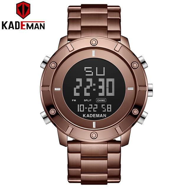 LED Sport Men Watches Classic TOP Quality Movement Digital Watch KADEMAN Luxury Brand Wristwatch 3ATM Full Steel Casual Military Bahria Stores by Bahria Stores in [product_type]