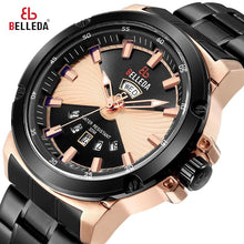 Load image into Gallery viewer, Luxury BELLEDA Rose Gold  Fashion Brand Mens Sports Analog Dual Display  Steel Quartz WristWatches Watch Men Casual Watches Bahria Stores by Bahria Stores in [product_type]