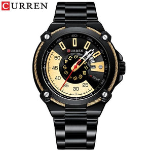 Luxury Design Watch for Men CURREN Quartz Military Watch Business Stainless Steel Date Wristwatches Male Clock Reloj Hombres Bahria Stores by Bahria Stores in [product_type]