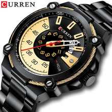 Load image into Gallery viewer, Luxury Design Watch for Men CURREN Quartz Military Watch Business Stainless Steel Date Wristwatches Male Clock Reloj Hombres Bahria Stores by Bahria Stores in [product_type]