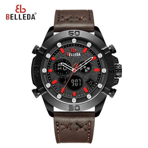 Luxury Men Watch Sport Quartz Dual Display Digital Watch Men Fashion Military Waterproof Chronograph Stop Watch New Arrival 2019