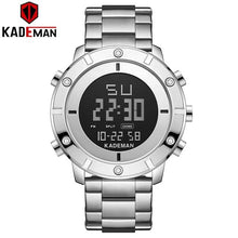Load image into Gallery viewer, Luxury Men Watches KADEMAN New Design 3ATM Sports Watch TOP Brand Full Steel Fashion Male Digital Wristwatches Relogio Masculino Bahria Stores by Bahria Stores in [product_type]