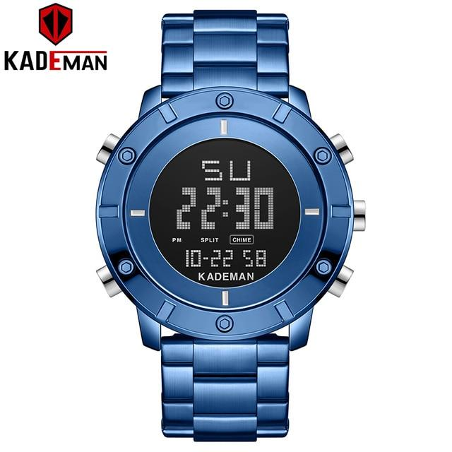 Luxury Men Watches KADEMAN New Design 3ATM Sports Watch TOP Brand Full Steel Fashion Male Digital Wristwatches Relogio Masculino Bahria Stores by Bahria Stores in [product_type]