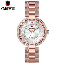 Load image into Gallery viewer, Luxury Sells Insert Ladies Watches New Fashion Crystal Dress Women Wristwatch TOP Quality Full Steel KADEMAN Brand Watch Elegant Bahria Stores by Bahria Stores in [product_type]