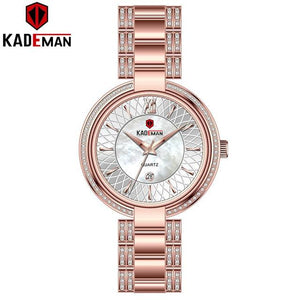 Luxury Sells Insert Ladies Watches New Fashion Crystal Dress Women Wristwatch TOP Quality Full Steel KADEMAN Brand Watch Elegant Bahria Stores by Bahria Stores in [product_type]
