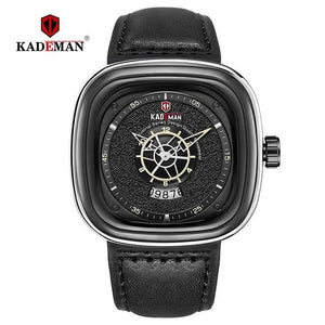 Luxury Square Watches Men 2019 Luxury Sports Quartz Watch TOP Brand KADEMAN Casual Leather Wristwatch Business Relogio Masculino Bahria Stores by Bahria Stores in [product_type]