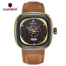 Load image into Gallery viewer, Luxury Square Watches Men 2019 Luxury Sports Quartz Watch TOP Brand KADEMAN Casual Leather Wristwatch Business Relogio Masculino Bahria Stores by Bahria Stores in [product_type]