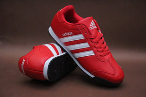 Adidas 3-Stripes White on Red Casual Sneakers for Unisex Bahria Stores by AnzorStore in Casual Sneakers