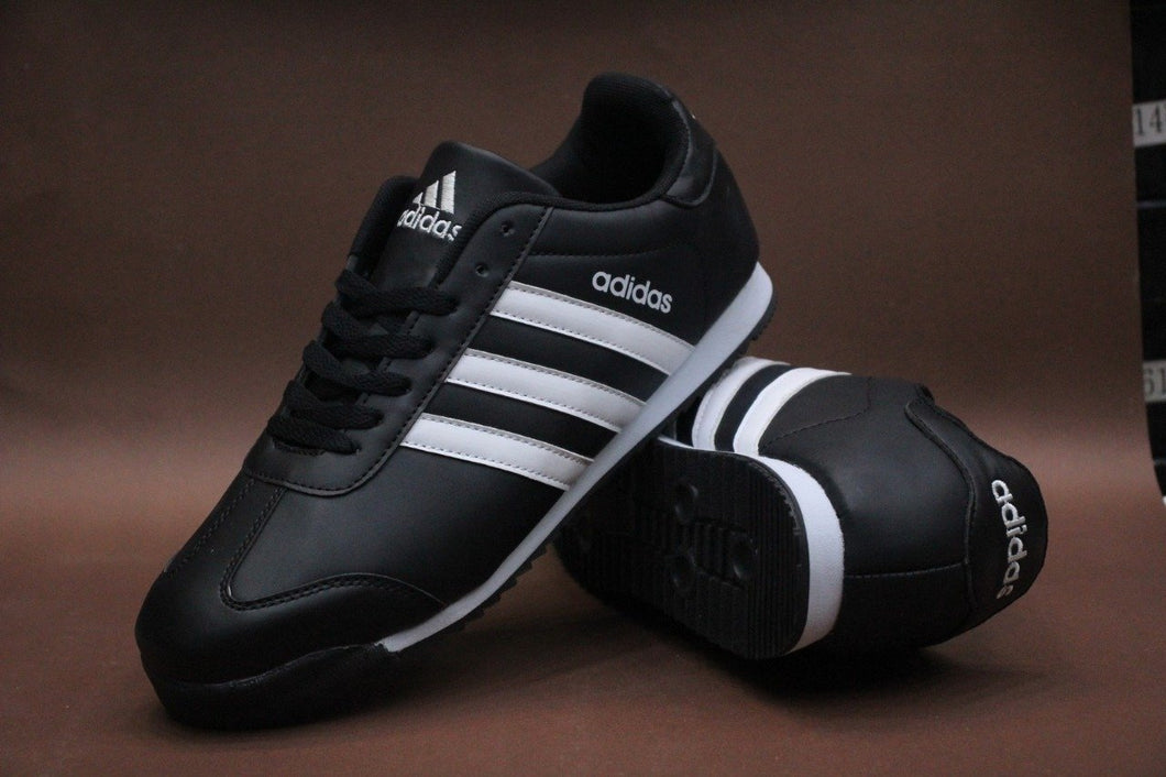 Adidas 3-Stripes White on Black Casual Sneakers for Unisex Bahria Stores by AnzorStore in Casual Sneakers