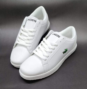 LACOSTE Lerond BL White Sneakers for Men Bahria Stores by AnzorStore in Casual Sneakers