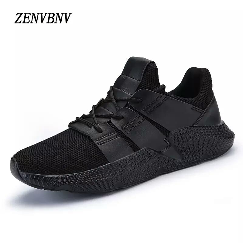 ZENVBNV Breathable Black Men's Running Sneakers Bahria Stores by AnzorStore in Casual Sneakers