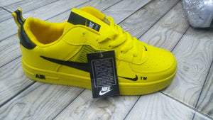 NIKE Air Force Yellow Sneakers - Black Tick Bahria Stores by AnzorStore in Casual Sneakers