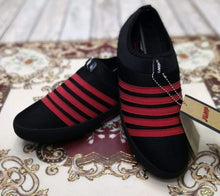 Load image into Gallery viewer, Authentic JUMP Red Stripes Black Casual Slip-ons Bahria Stores by AnzorStore in Casual Sneakers
